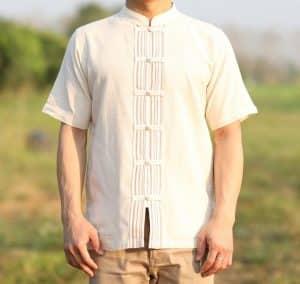เสื้อผ้าฝ้ายผู้ชายเนื้อดีสีครีม | นุ่ม สบาย แตกต่าง รับประกันคุณภาพ