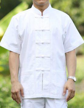 เสื้อขาว-ผ้าฝ้าย-เนื้อดี-เนื้อหนา