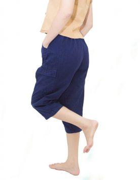 กางเกงหม้อห้อม-ม่อฮ่อม-หม้ออ่อม-ขาสามส่วน-สี่ส่วน-มีกระเป๋า